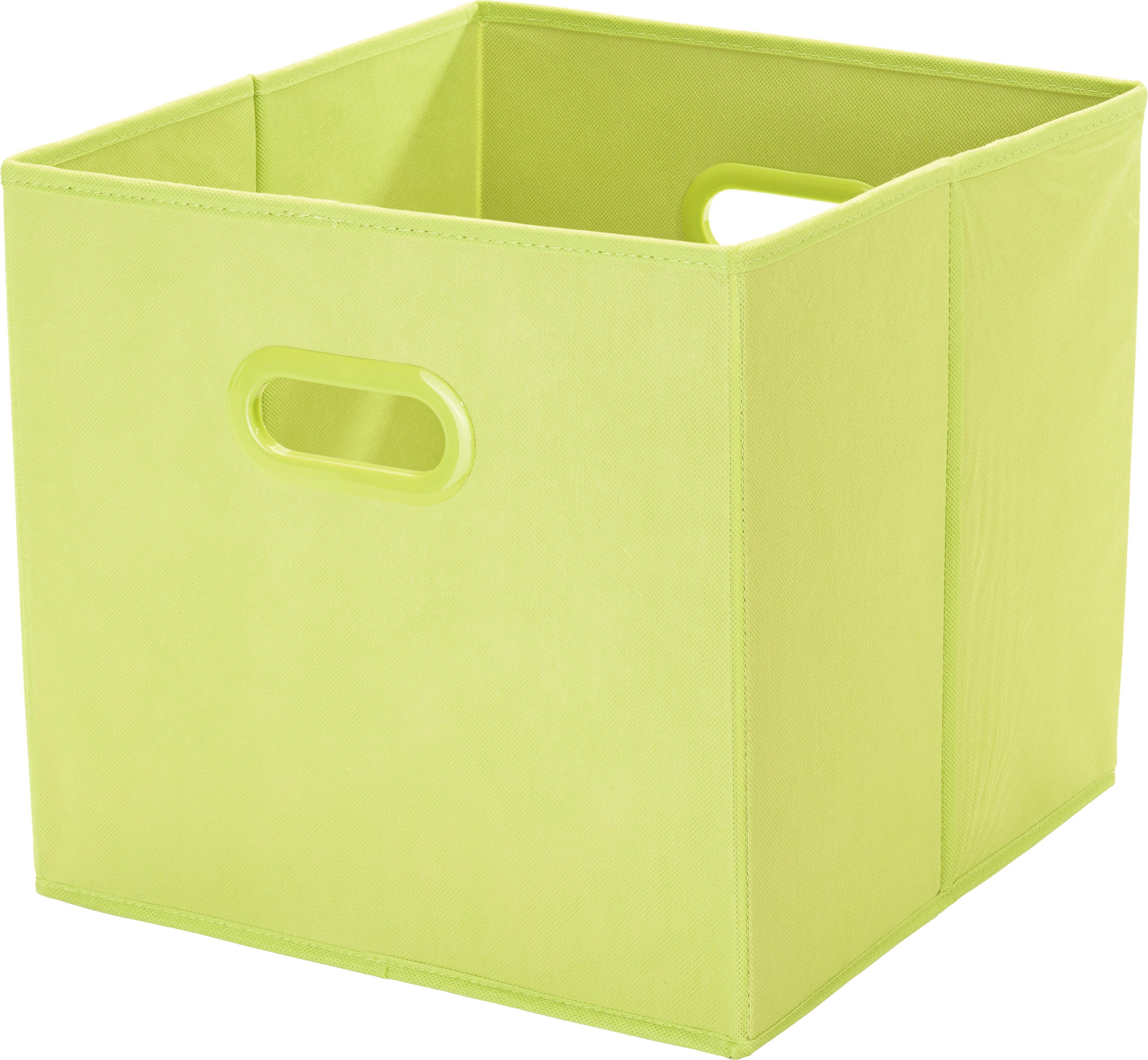 Tárolódoboz Elli - zöld, konvencionális, műanyag/karton (33/33/32cm) - MÖMAX modern living