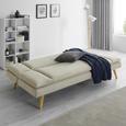 Sofa Lorenzo mit Schlaffunktion - Beige, MODERN, Holz/Textil (180/83/93cm) - Modern Living