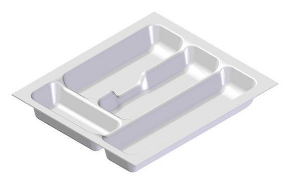 Besteckeinsatz zubehör in Weiß - Weiß, MODERN, Kunststoff (31,8/5/47,3cm)