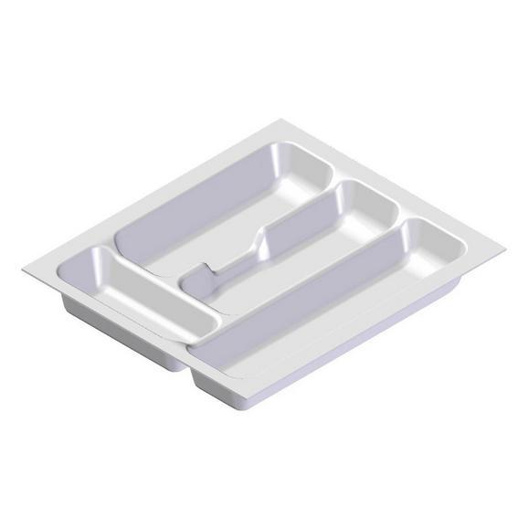 Besteckeinsatz Zubehör / Weiß - Weiß, MODERN, Kunststoff (33,3/5/38,4cm) - FlexWell.ai