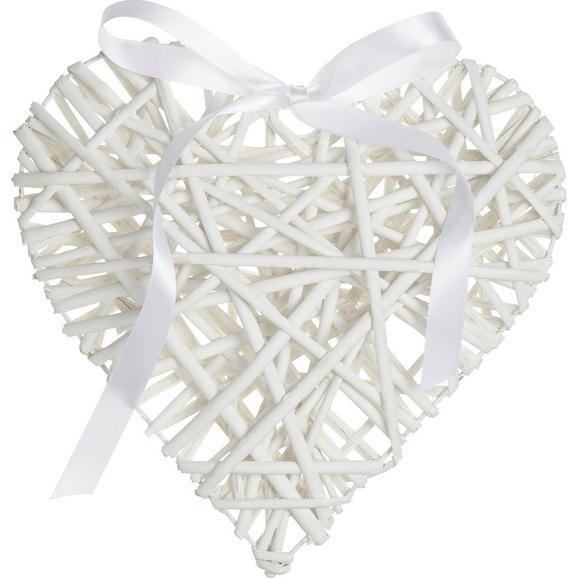 Decorațiune De Agățat Melanie I - alb, Romantik / Landhaus, lemn/textil (30/5.5cm) - Modern Living