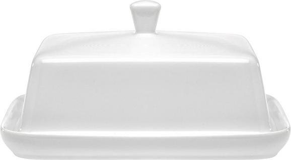 Butterdose Ginza in Weiß aus Keramik - Weiß, KONVENTIONELL, Keramik (18,4/13,7/7,5cm) - Mömax modern living