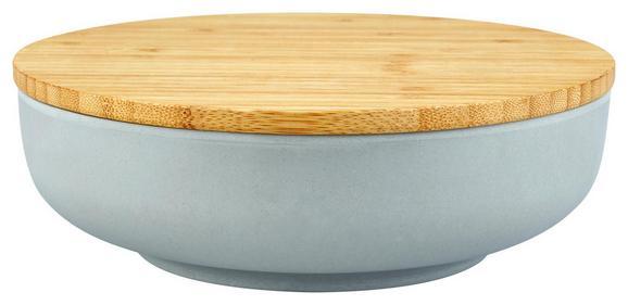Schüssel mit Deckel Anabel aus Bambusfaser - Naturfarben/Grau, Natur, Holz/Holzwerkstoff (20,5/6,1cm) - Zandiara