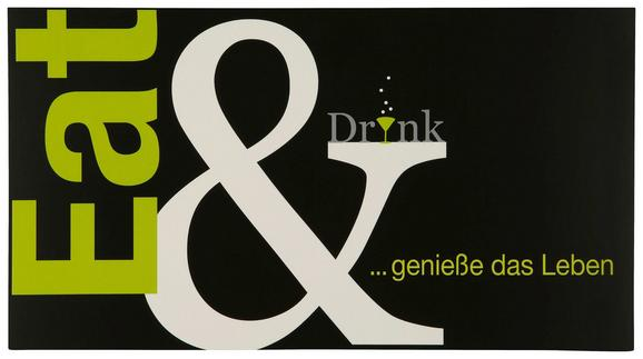 Postkarte Michael, ca. 12,5x23cm - Schwarz/Hellgrün, Papier (12,5/23cm) - MÖMAX modern living