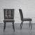 Stuhl Zoey - Dunkelgrau/Schwarz, MODERN, Holz/Textil (51/93,5/61cm) - Modern Living