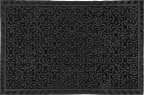 Predpražnik Doris - črna, umetna masa (40/60cm) - Mömax modern living