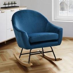 Schaukelstuhl Sophie - Petrol, MODERN, Holz/Textil (74/87/91,5cm) - Mömax modern living