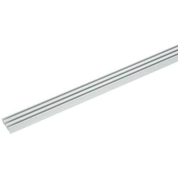 Vorhangschiene Style in Weiß ca. 210cm - Weiß, Metall (210cm) - Premium Living