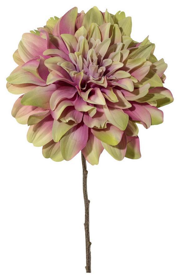 Umetna Roža Nele - roza/zelena, Romantika, kovina/umetna masa (57cmcm)