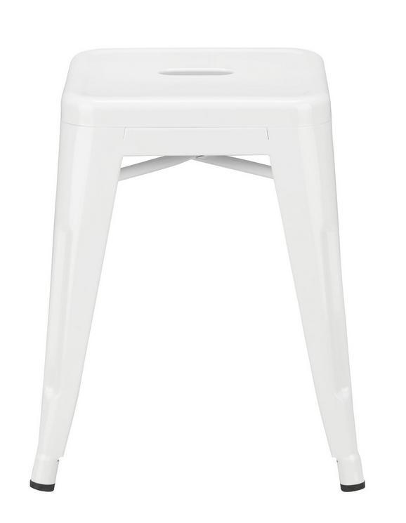 Ülőke Manchester - fehér, műanyag/fém (38/46/38cm) - premium living