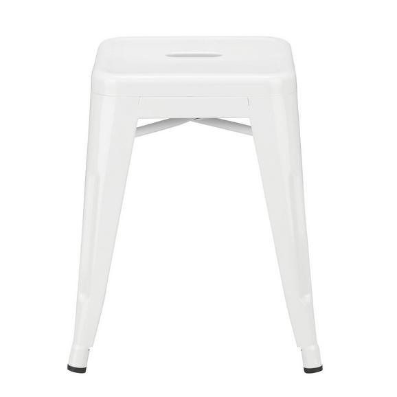 Zložljiv Stolček Manchester - bela, kovina/umetna masa (38/46/38cm) - Premium Living