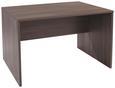 Íróasztal Profi - Sötétbarna, modern, Faalapú anyag (120/76/80cm) - Ombra