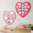 Bilderrahmen Heart, Ca. 60x59cm - temno roza/rdeča, Romantika, umetna masa/leseni material (60/59,5/0,9cm) - Mömax modern living