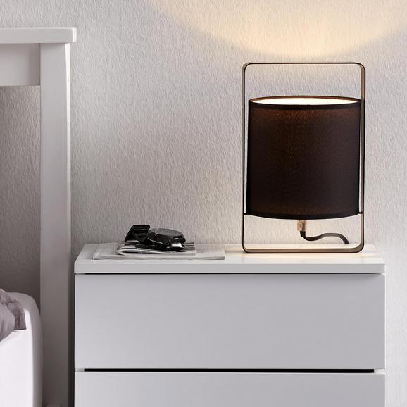 Tischleuchte Graham - Schwarz, MODERN, Textil/Metall (16/15/25cm) - Mömax modern living