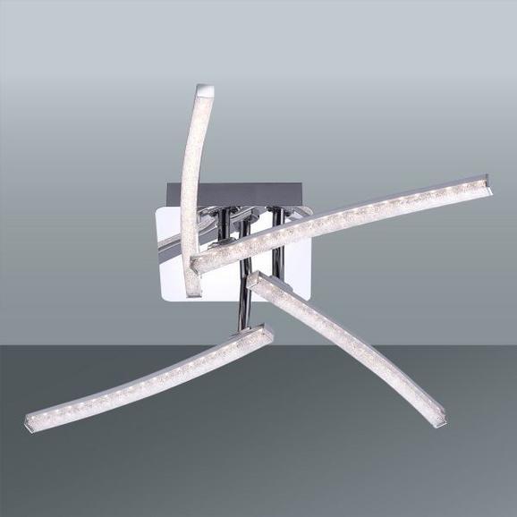 LED-Deckenleuchte Simon, max. 4x3 Watt - Chromfarben, KONVENTIONELL, Kunststoff/Metall (63cm)