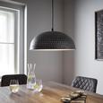 Hängeleuchte Alwina - Silberfarben/Schwarz, MODERN, Metall (30/119cm) - Modern Living