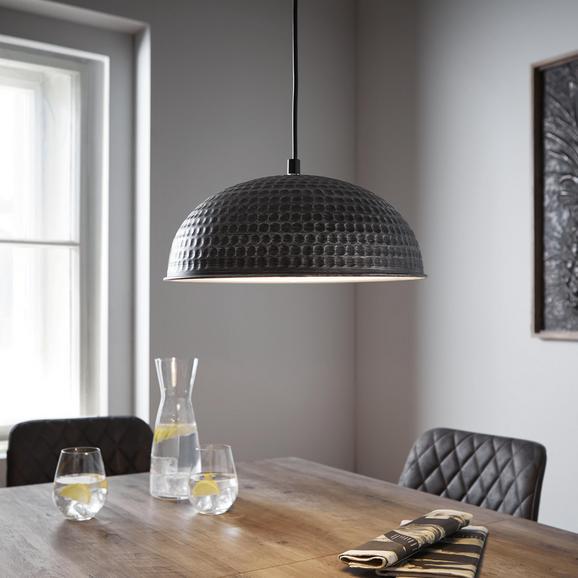 Pendelleuchte Alwina - Silberfarben/Schwarz, MODERN, Metall (30/119cm) - Modern Living