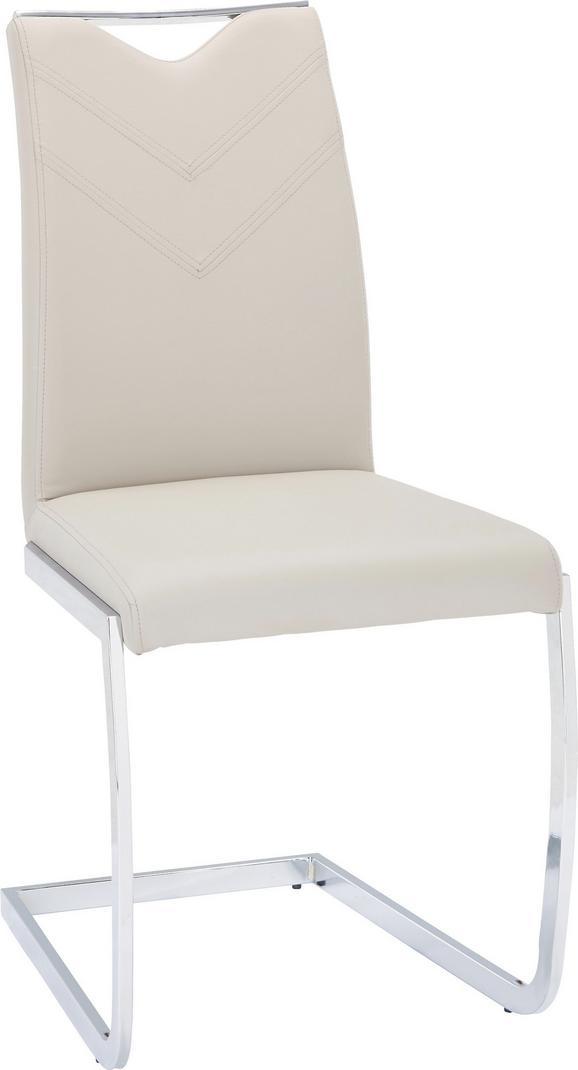Nihajni Stol Vincent - odtenki umazano rjave/krom, Moderno, kovina/tekstil (47,5/97,5/58,5cm) - Based