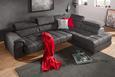 Wohnlandschaft Grau - Grau, MODERN, Textil/Metall (299/72-91/212cm) - Modern Living