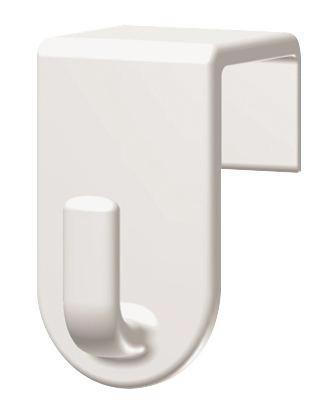 Haken Fred Weiß - Weiß, Kunststoff (2/3,5/2cm) - Mömax modern living