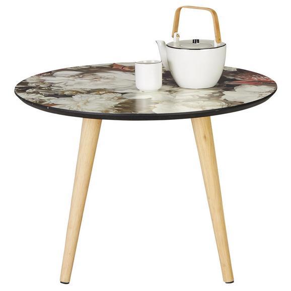 Beistelltisch in Bunt - Multicolor/Naturfarben, ROMANTIK / LANDHAUS, Holz (60/41cm) - Zandiara
