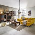 Sedežna Garnitura Monk - turkizna/rumena, Konvencionalno, kovina/tekstil (271-222cm) - Premium Living