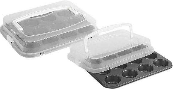 Muffin Forma Larissa - Fehér/Fekete, Műanyag/Fém (36/27/7,5cm) - Mömax modern living