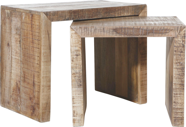 Beistelltisch in Natur aus Mango massiv - Naturfarben, LIFESTYLE, Holz (45/35/40cm) - MÖMAX modern living