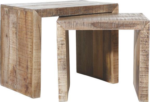 Beistelltisch in Naturfarben Massiv - Naturfarben, LIFESTYLE, Holz (45/35/40cm) - Mömax modern living