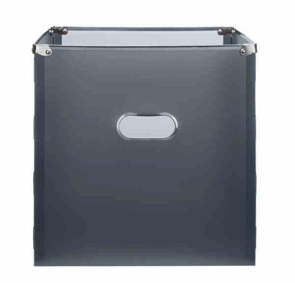 Škatla Za Shranjevanje Poppi - antracit/nerjaveče jeklo, Moderno, kovina/umetna masa (34,5/33/34cm) - Mömax modern living