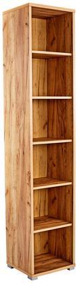 Pisarniški Regal Profi - hrast/krom, Moderno, umetna masa/leseni material (50/220/35cm) - Mömax modern living