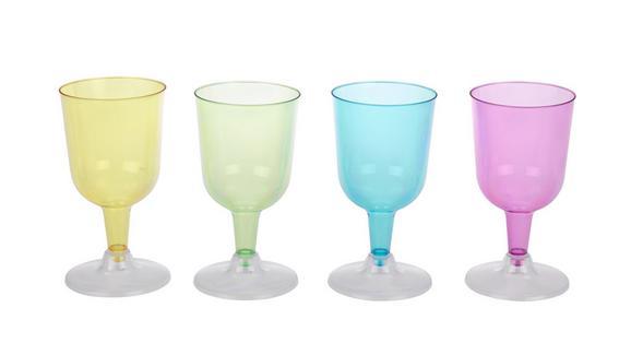 Kozarec Za Belo Vino Lucia - roza/modra, umetna masa (6,5/17,5cm)