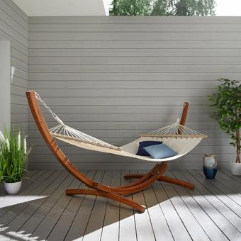 Hängematte Ciara - Beige/Braun, MODERN, Holz/Textil (316/120/120cm) - Mömax modern living