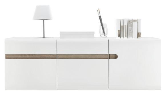 Hängeelement Weiß Hochglanz/Trüffel - Trüffeleichefarben/Weiß, MODERN, Holzwerkstoff (164/55/42cm)
