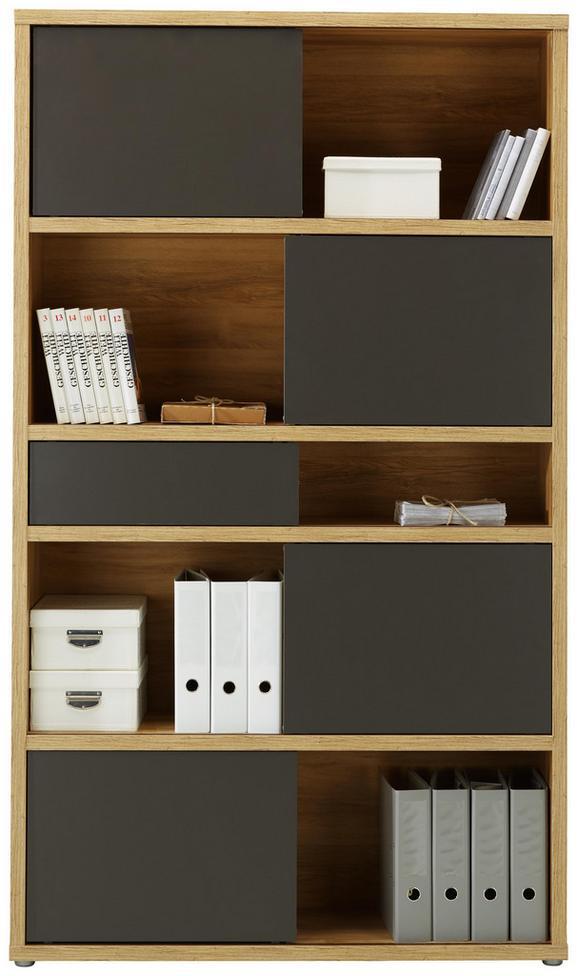 Regal Eichefarben - Eichefarben/Anthrazit, MODERN, Holzwerkstoff/Kunststoff (116,6/199,8/37cm) - Premium Living