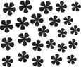 Stenska Dekoracija Flower - črna, Moderno, umetna masa (10,5/16,8cm) - Mömax modern living