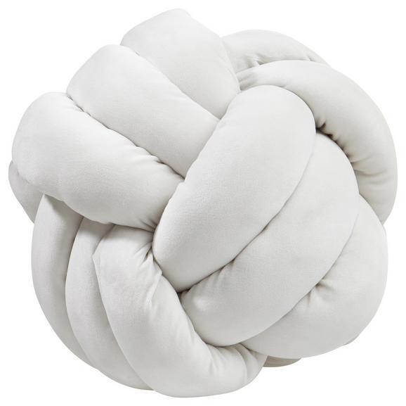 Zierkissen Knoten In White, ca. 35x35cm - Naturfarben, MODERN, Textil (35/35cm) - Premium Living