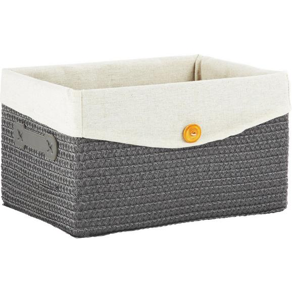 Košara Za Regal Denise - M - siva, Romantika, umetna masa/tekstil (35/20/26cm) - Mömax modern living