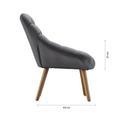 Sessel in Grau 'Alison' - Grau, MODERN, Holz/Textil (92/79/76cm) - Bessagi Home