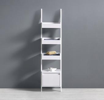 Regal Basic - Weiß, MODERN, Holzwerkstoff (36/146,5/36,5cm) - MODERN LIVING