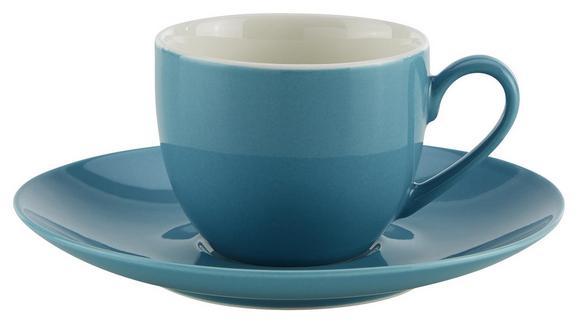 Espressotasse mit Untertasse Sandy aus Keramik ca. 90ml - Blau, KONVENTIONELL, Keramik (6,4/5cm) - Mömax modern living