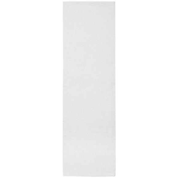 Tischläufer Charlotte in Weiß, ca.45x150cm - Weiß, MODERN, Textil (45/150cm) - Premium Living