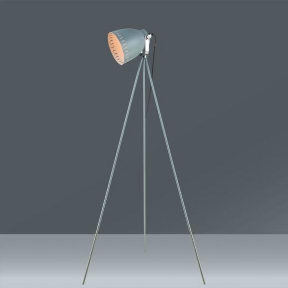 Stehleuchte Basti, max. 1x60 Watt - Grau, LIFESTYLE, Metall (75/75/167,5cm) - MÖMAX modern living