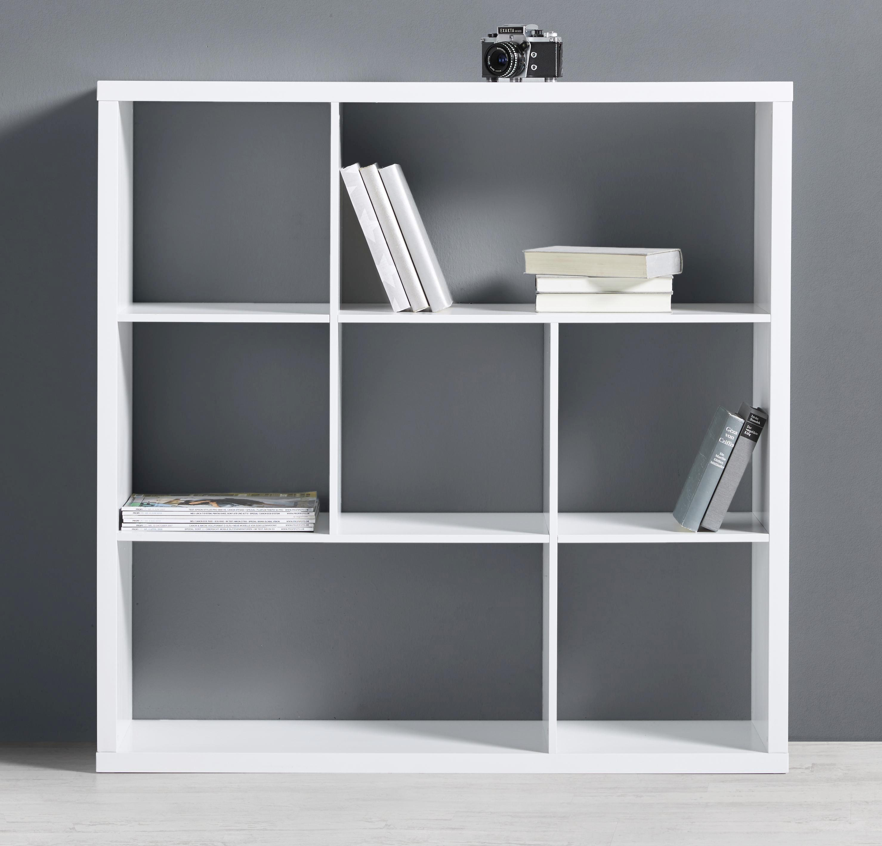 Regal Basic - Weiß, MODERN (110/110/29,5cm) - MODERN LIVING