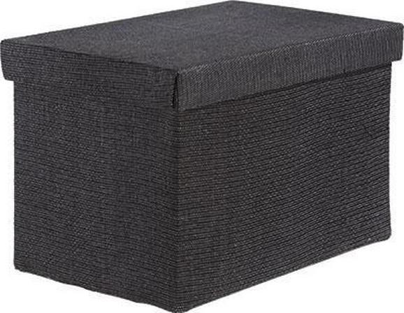 Aufbewahrungsbox Cindy - Anthrazit, MODERN, Textil (38/24/26cm) - Mömax modern living