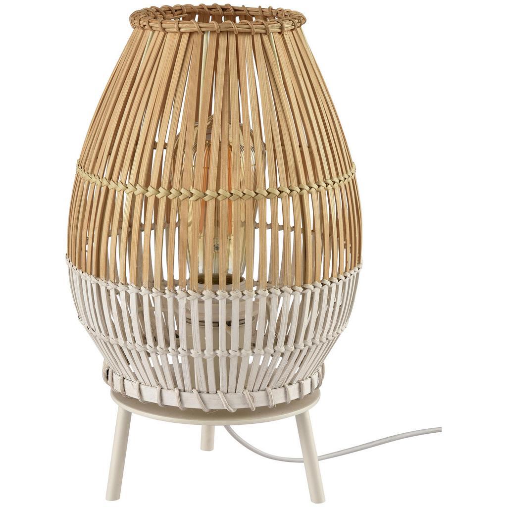 Tischleuchte Woldt aus Bambus max. 25 Watt