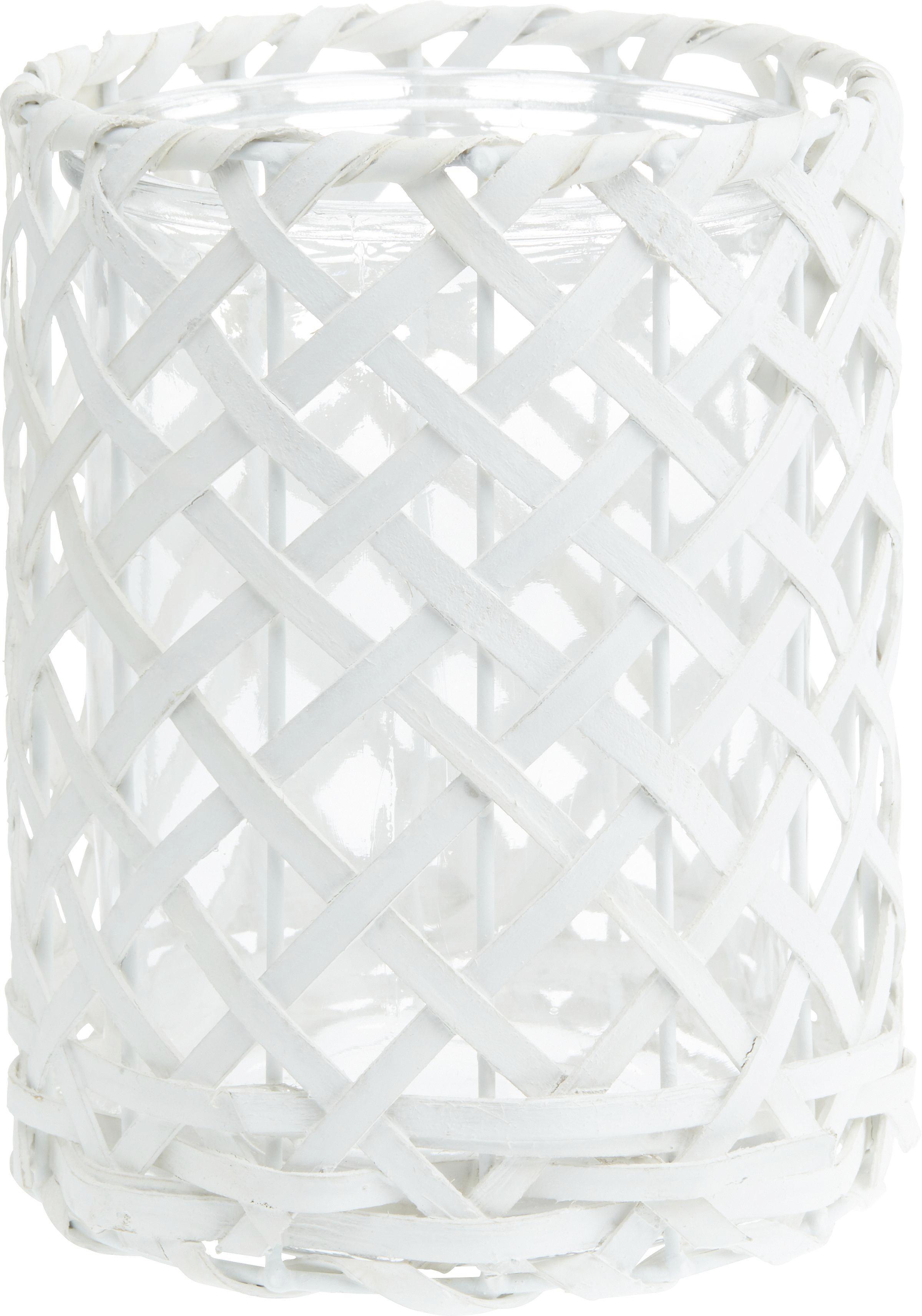 Lámpás Antonia - fehér, romantikus/Landhaus, üveg/fa (14,5/19cm) - MÖMAX modern living
