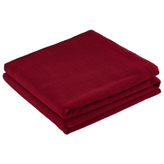 Überwurf Solid One Rot ca. 240x210cm - Rot, Textil (240/210cm) - Based