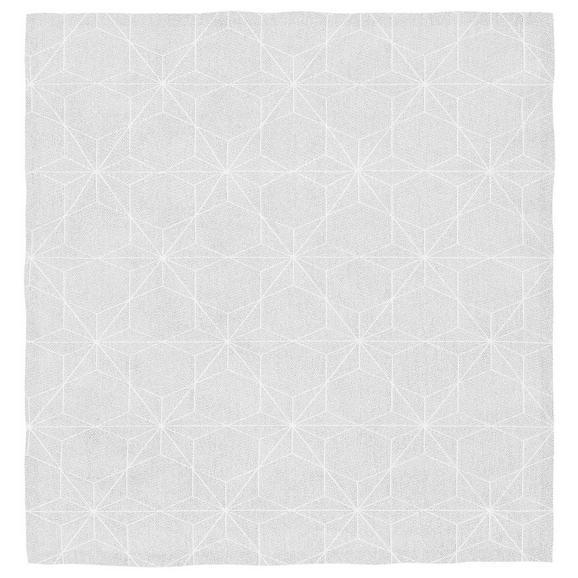 Tischdecke Megan in Weiß, ca.85x85cm - Weiß, LIFESTYLE, Textil (85/85cm) - Premium Living