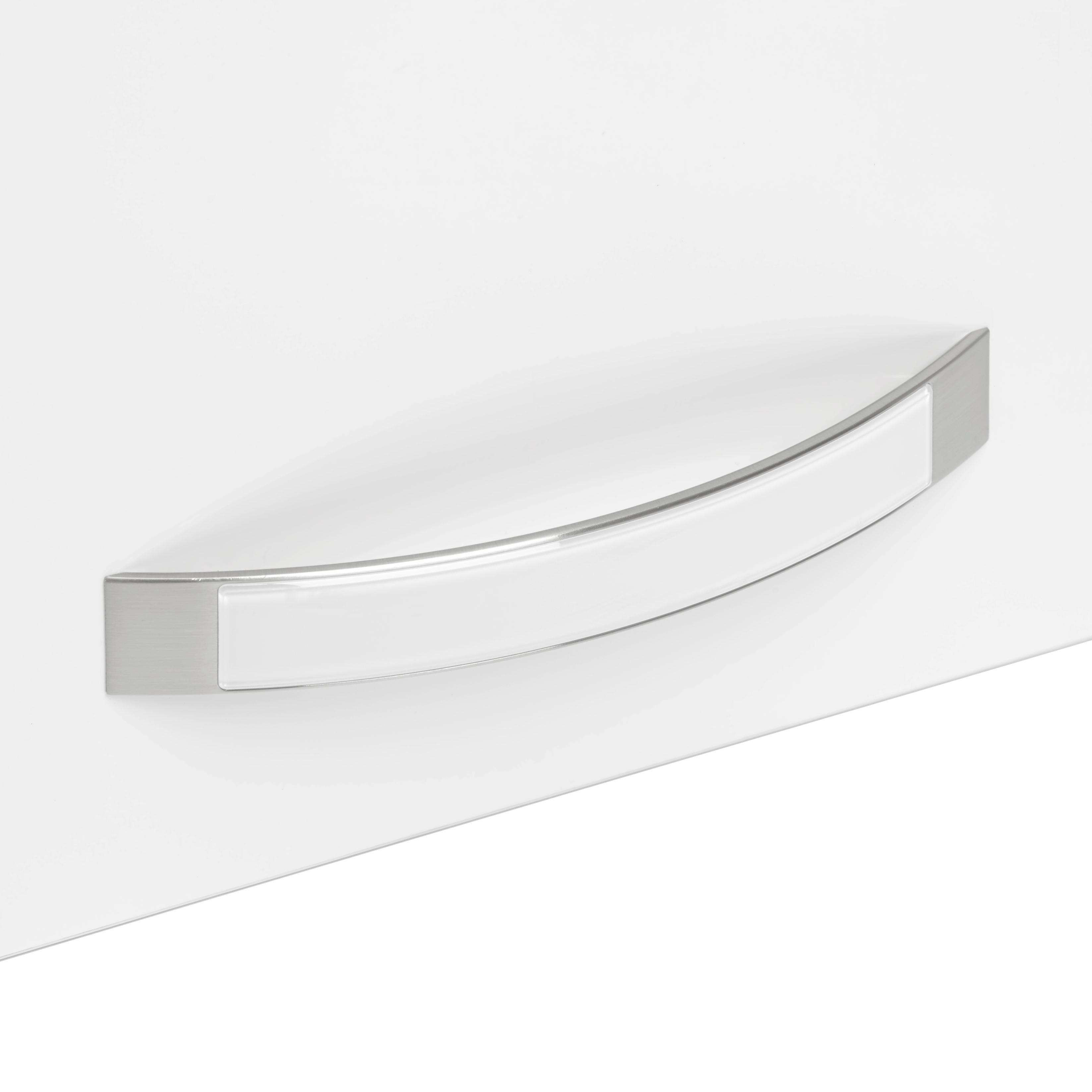 Tür in Weiß Hochglanz - Weiß, MODERN, Holz/Metall (39.4/70.1/1.8cm) - PREMIUM LIVING